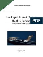 Hubballi-Dharwad BRTS Detailed Feasibility Report