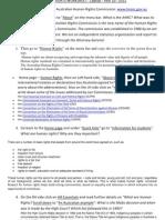 Human Rights Worksheet Laptop Yr 10 2011