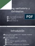 Weaning Ventilatorio y Extubacion