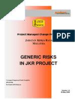 Generic Risks in JKR Project Ver 1.0 Rev 28 Mei 08