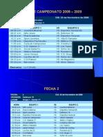 Fixture Campeonato 2008 – 2009