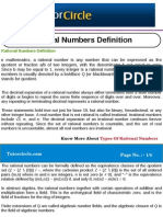 Rational Numbers Definition