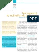 Management Et Motivation Du Personnel