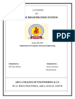 Synopsis for Course Registration System