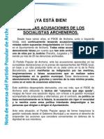 Nota de Prensa Pp