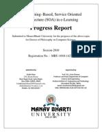 Final First Progress Report for Ph.D