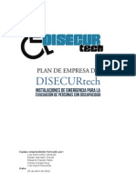 Plan de Empresa de DISECURtech