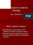 Introduction to Electro Therapy