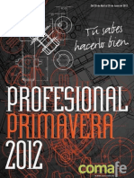 Catálogo Profesional Primavera 2012 Comafe