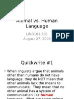 Ling101 Animal Languages