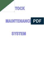 Copy of Stock Maintenance System