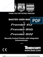 TEXECOM Master Users