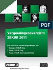 Vergoedingoverzicht Zekur 2011