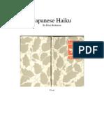 3682741 Japanese Haiku by Peter Beilenson