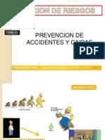 Diapositiva de Prevencion de Accidentes y Caidas