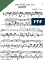 [0] Villa Lobos - Aria From Bachianas Brasileiras No. 5 for Flute and Guitar (Score)