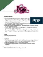 Bunco Rules 2012