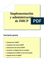 1.- Implementacion y Admin is Trac Ion de DHCP