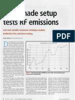Homemade setup tests RF emissions