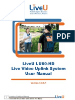 LiveU HD60 Live Video Uplink System User Manual