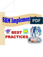 Best Practices on SBM Implementation