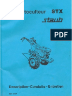 STAUB MotoculteursSTX500 600 700 Manuel
