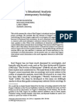 Popper's Situational Analysis and Contemporary Sociology - Hedström, Swedberg, Udéhn 1998