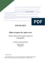 Armes Silencieuses Pour Guerres Tranquilles-Opération Research