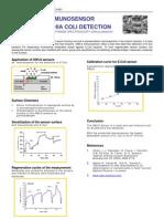 Label-free immunosensor for Escherichia Coli detection