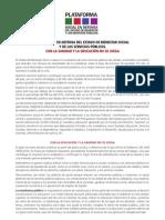 MANIFIESTO EN DEFENSA DEL ESTADO DE BIENESTAR Y LOS SERVICIOS PUBLICOS
