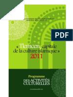 Programme Tlemcen 2011
