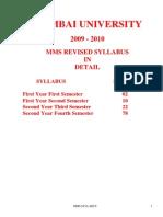 Mms Syllabus in Details