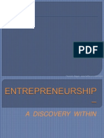 ENTREPRENEURSHIP – A DISCOVERY WITHIN