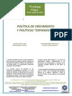 """POLÍTICA DE CRECIMIENTO Y POLÍTICAS EXPANSIVAS (Es) GROWTH POLICY AND EXPANSIONARY POLICIES (Es) HAZKUNDERAKO POLITIKA ETA POLITIKA """"HEDATZAILEAK"""" (Es)"""