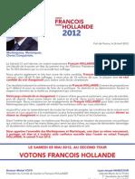 VOTONS FRANCOIS HOLLANDE AU 2ème TOUR