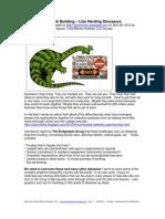 Network Building – Like Herding Dinosaurs
