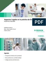 Aspectos Legales en la prácica de Enfermería