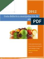 Guía didáctica de manipulación de alimentos