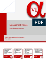PTMBA2013 Managerial Finance Beta Case