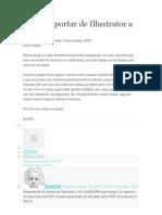Cómo exportar de Illustrator a Corel