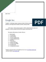 Google Analysis
