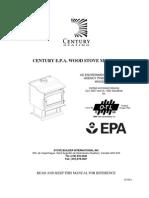 Century E.P.A. Wood Stove Manual
