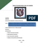 trabajo de derecho cicil IV diferencia entre dºreales y obligaciones