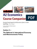 A2 Economics Section 2 Macroeconomics