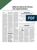 El tipo de cambio en el Perú no afecta significativamente a las exportaciones