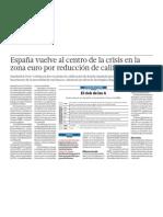 La economía de España en crisis con a zona euro