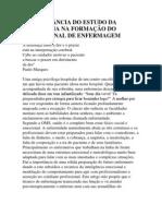 A IMPORTÂNCIA DO ESTUDO DA PSICOLOGIA NA FORMAÇÃO DO PROFISSIONAL DE ENFERMAGEM