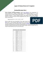 Sistem Bilangan & Satuan Konversi Computer