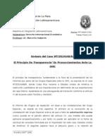 Principio Transparencia en la OMC