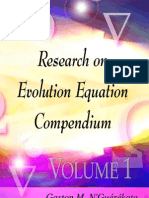 Research on Evolution Equations Compendium Volume 1